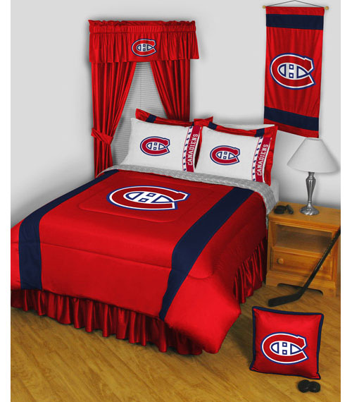 2pc nhl montreal canadiens pillowcases hockey bedding access