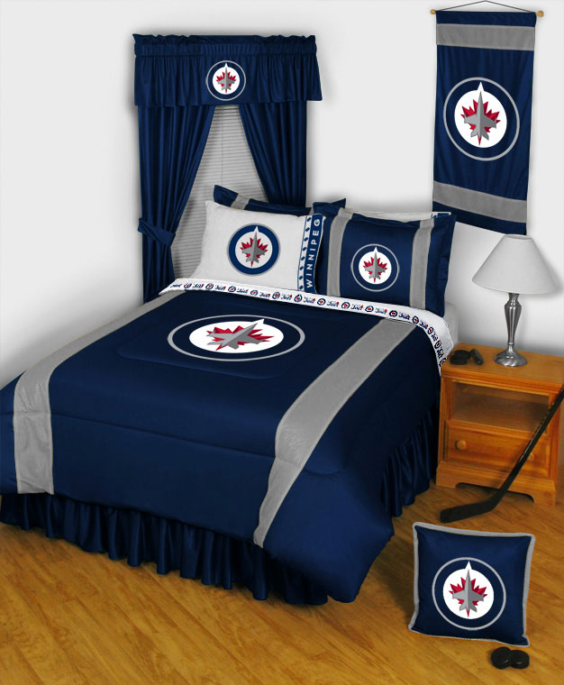 Nhl Hockey Montage 3pc Bed Sheets Set Twin Bedding