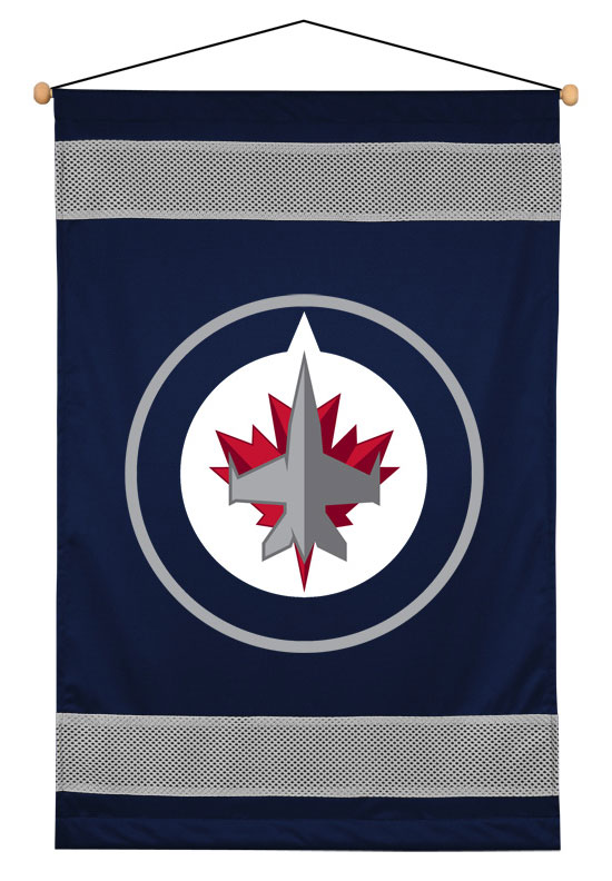 NHL Winnipeg Jets Wall Hanging - Hockey Team Logo Accent Banner 05JSWHG5JET2845