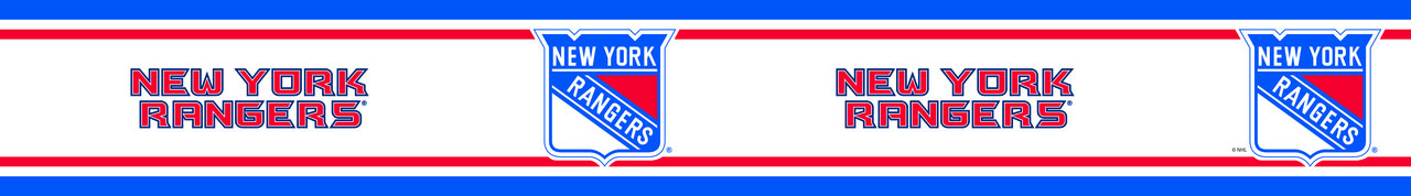 NHL New York Rangers Prepasted Border - Hockey Decor Wallpaper Border Roll RB_RANG