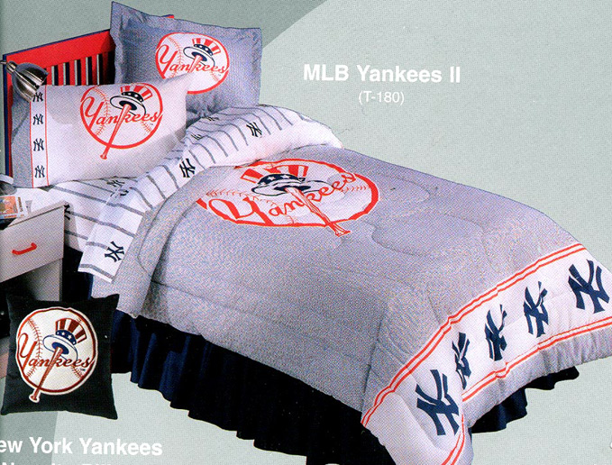 new york yankees bed in a bag twin single size bedding
