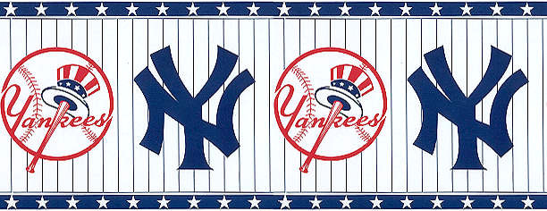 NY Yankees Wallpaper Border - New York Yankees Border