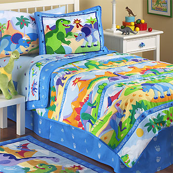 Dinosaurland - 5pc DINO BED IN A BAG - Queen Size Monster ...