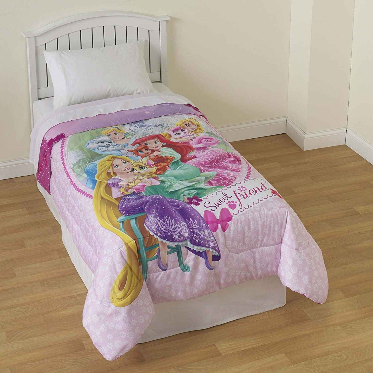 Palace Pets Twin Bed Comforter - Disney Princess Sweet Pet Friends Bedding MJ5405