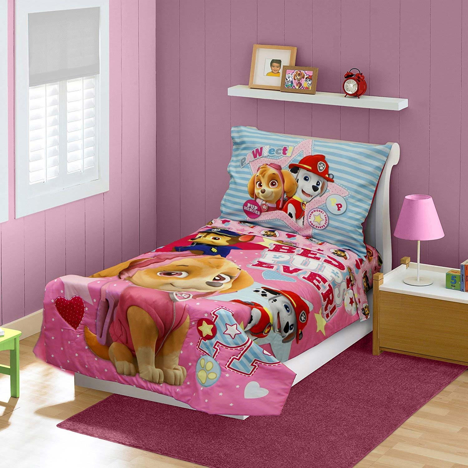 Paw Patrol Toddler Bedding Set - 4pc Best Pups Ever Comforter And Sheets
