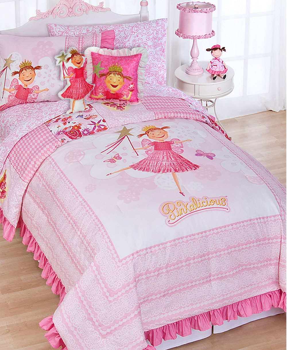 7pc Pink Princess Bedding Set