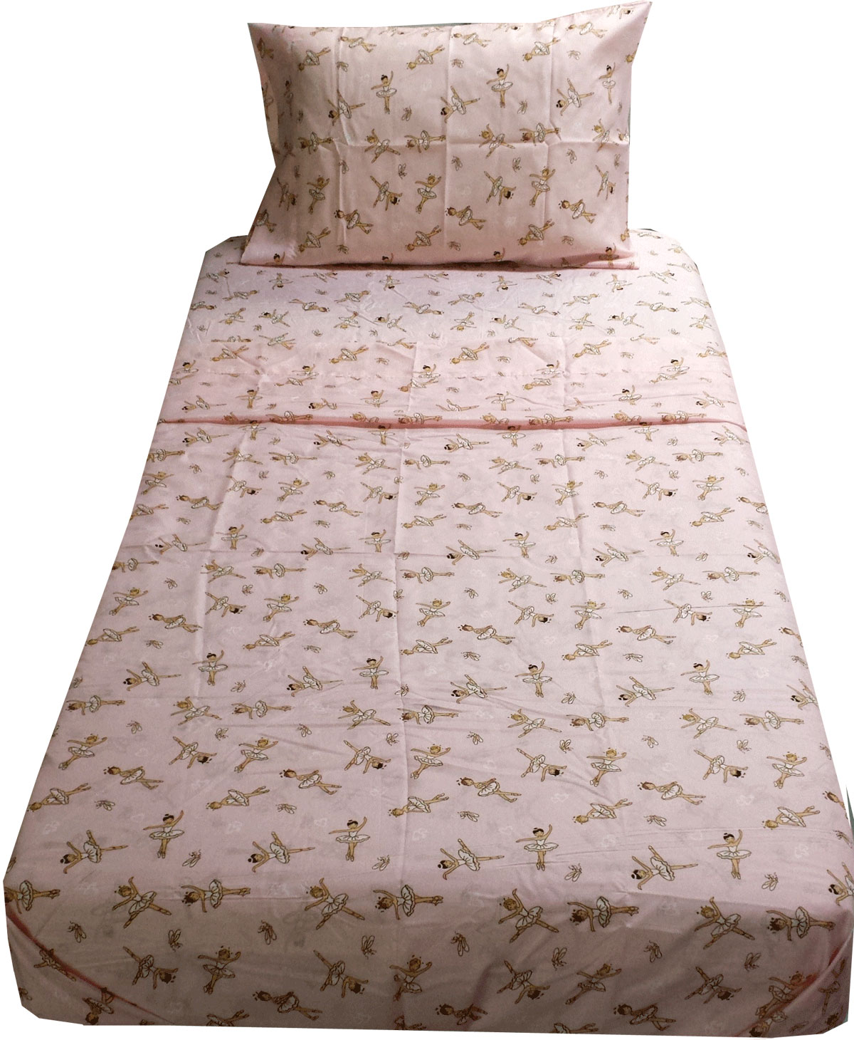Pink Ballerinas Twin Sheet Set
