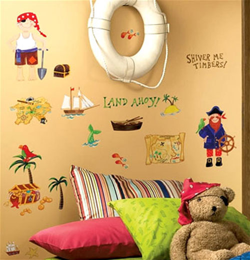 Pirates Treasure Island Hunt - 45 Wall Stickers Decals