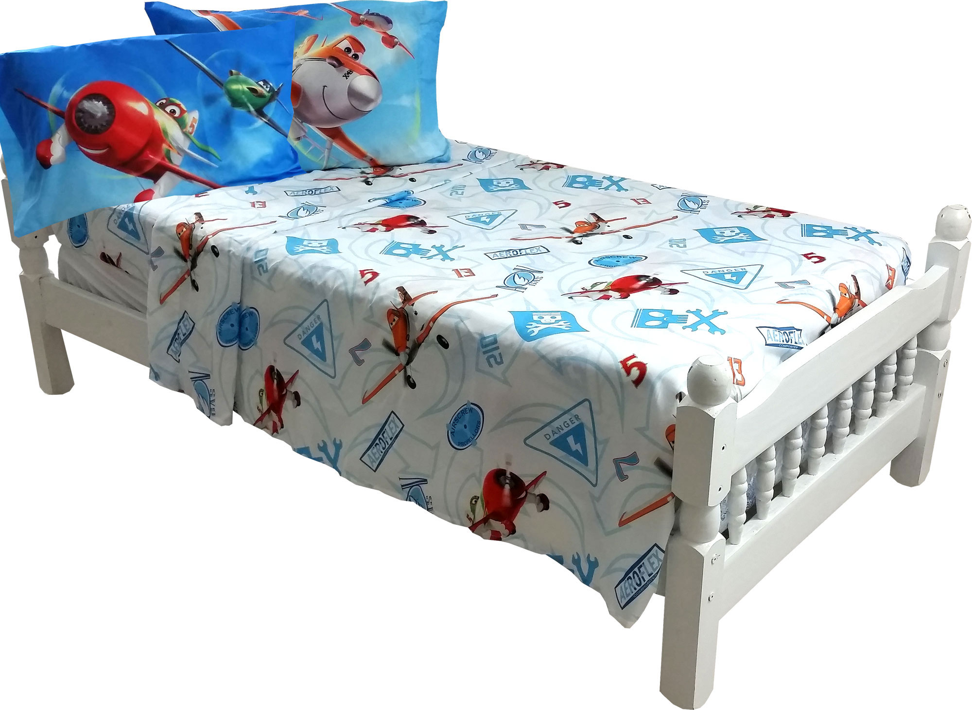 Disney Planes Full Bed Sheet Set - 4pc Dusty Crophopper On Your Mark Bedding 27622