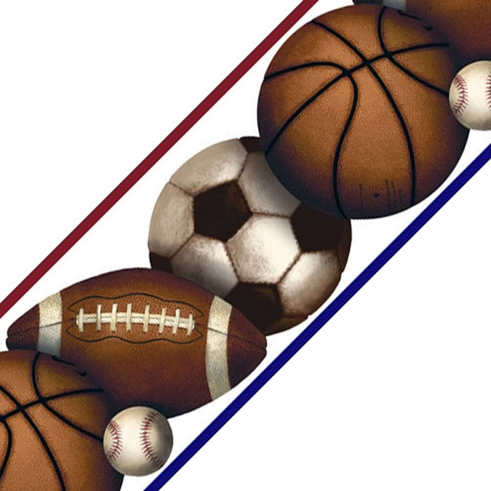 Sports Balls Wall Border