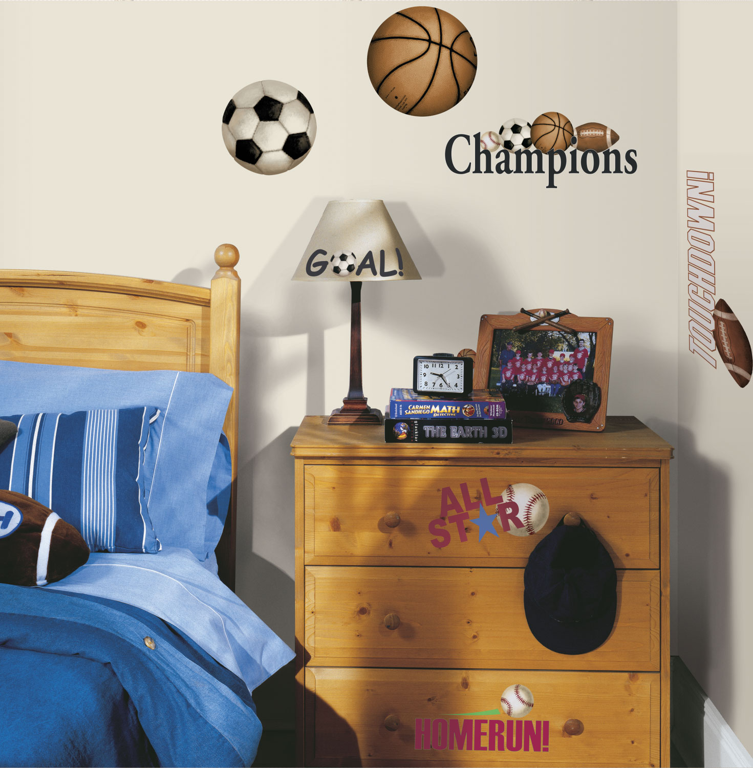Play Balls Self-stick Wall Stickers