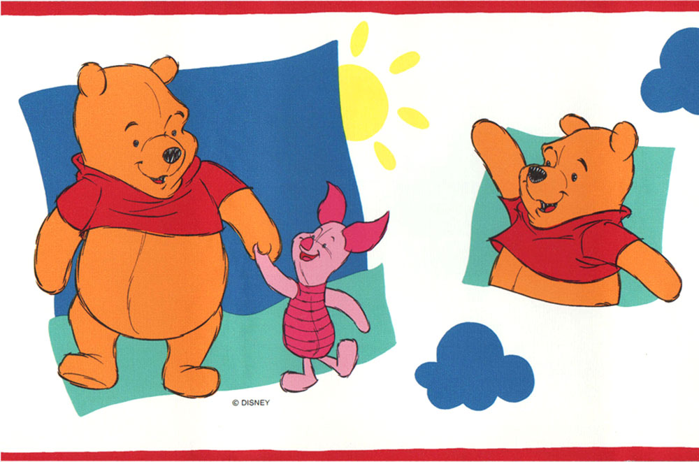disney winnie the pooh and piglet wallpaper border. Black Bedroom Furniture Sets. Home Design Ideas