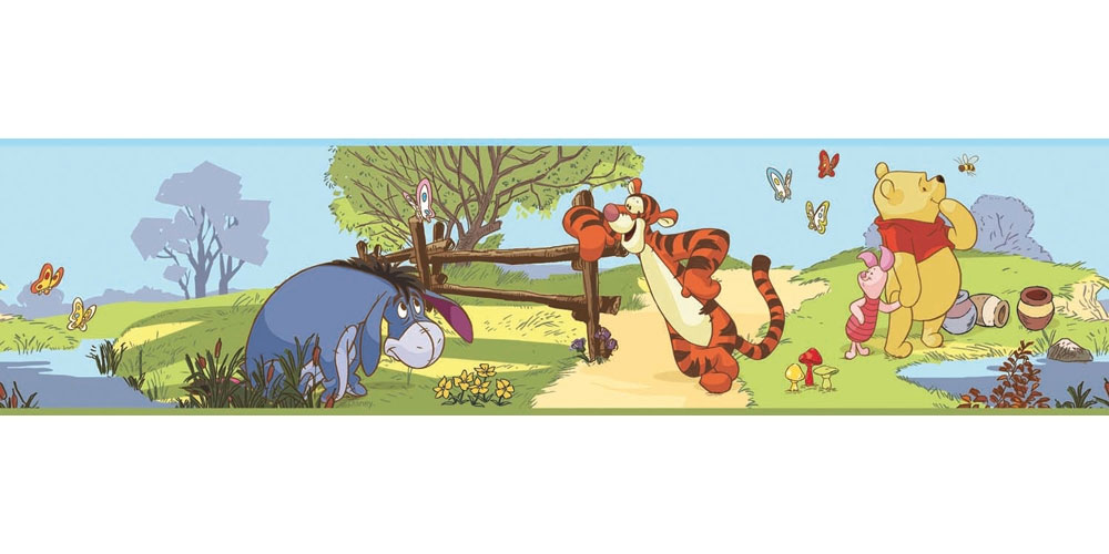 Pooh and Friends Wall Border Roll