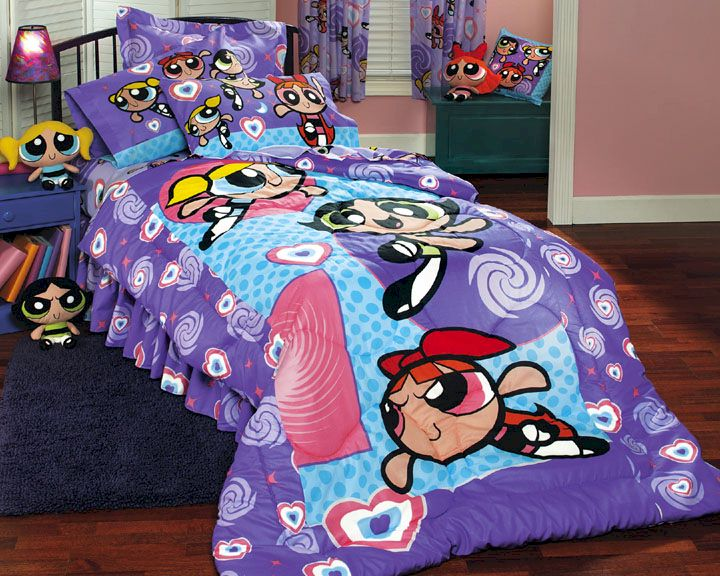 Powerpuff Girls Psychedelic Bed In A Bag Twin Size