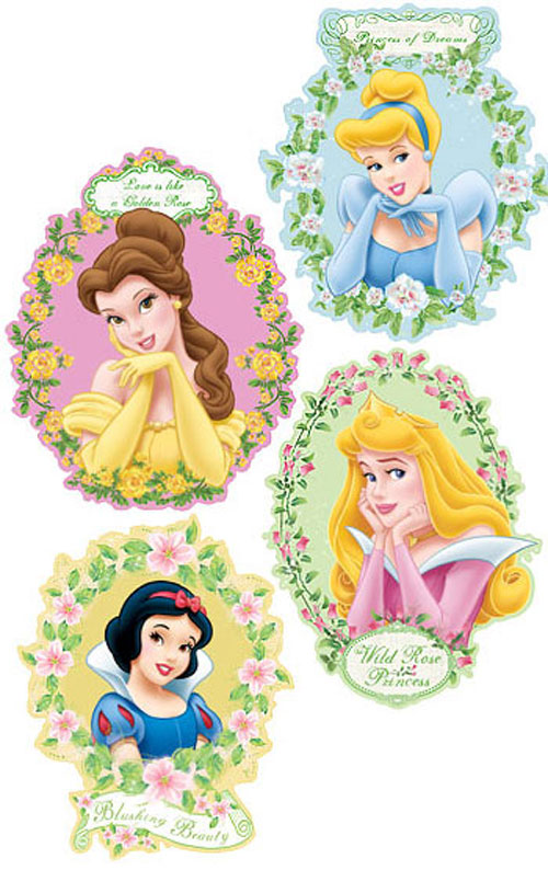 27 disney princess decor kit wall art sticker mural set ebay for Disney princess wall mural stickers