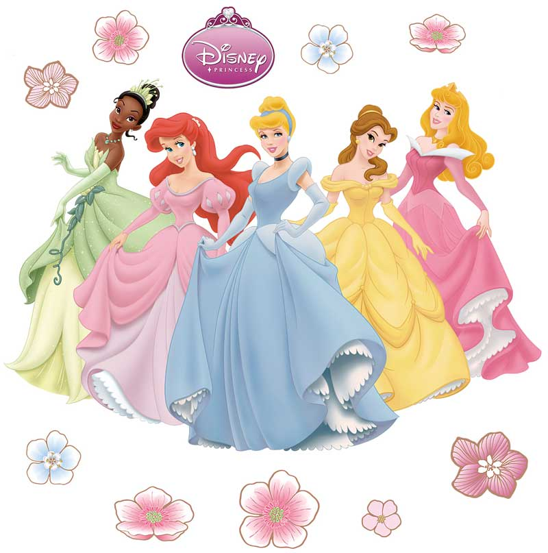Wonderful 11pc Disney Princesses Large Stick Up Wall Decals Part 21