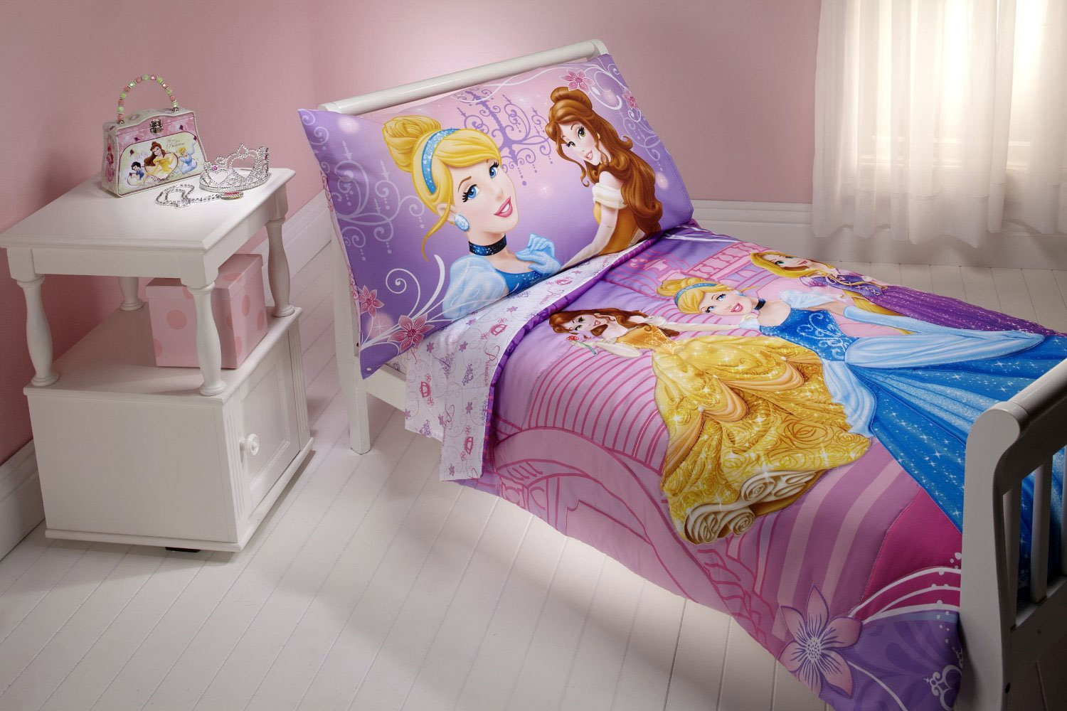 Disney Cinderella Belle 4pc Toddler Bedding Set