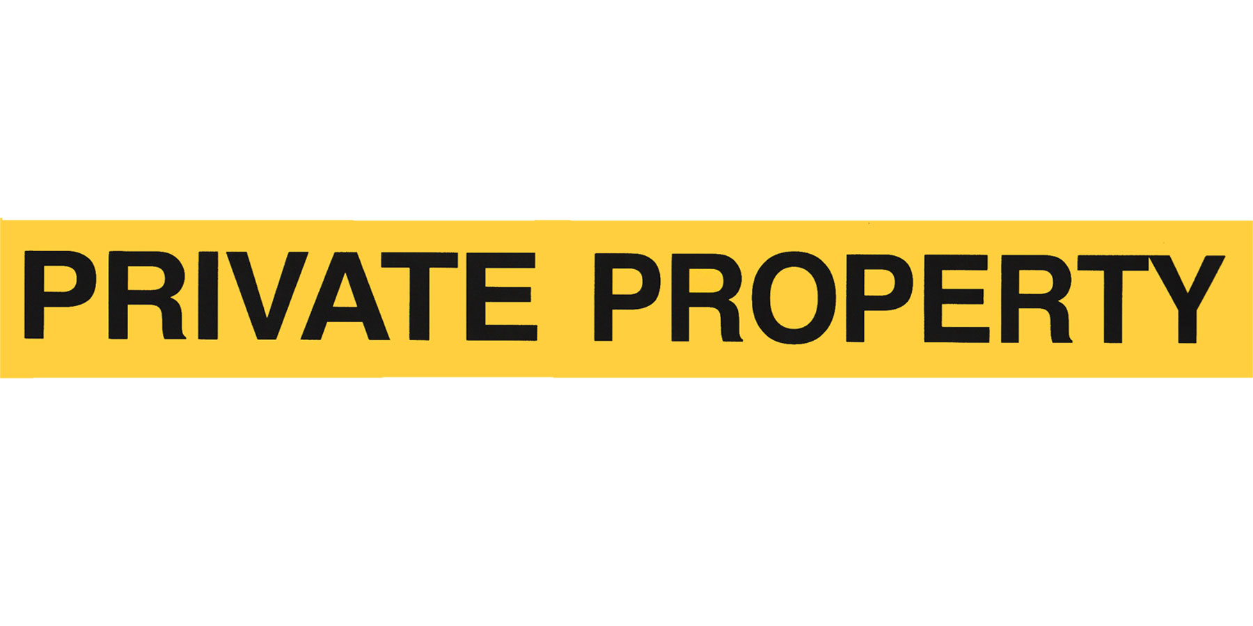 Private Property Prepasted Wall Border - Bright Yellow Wall Decoration