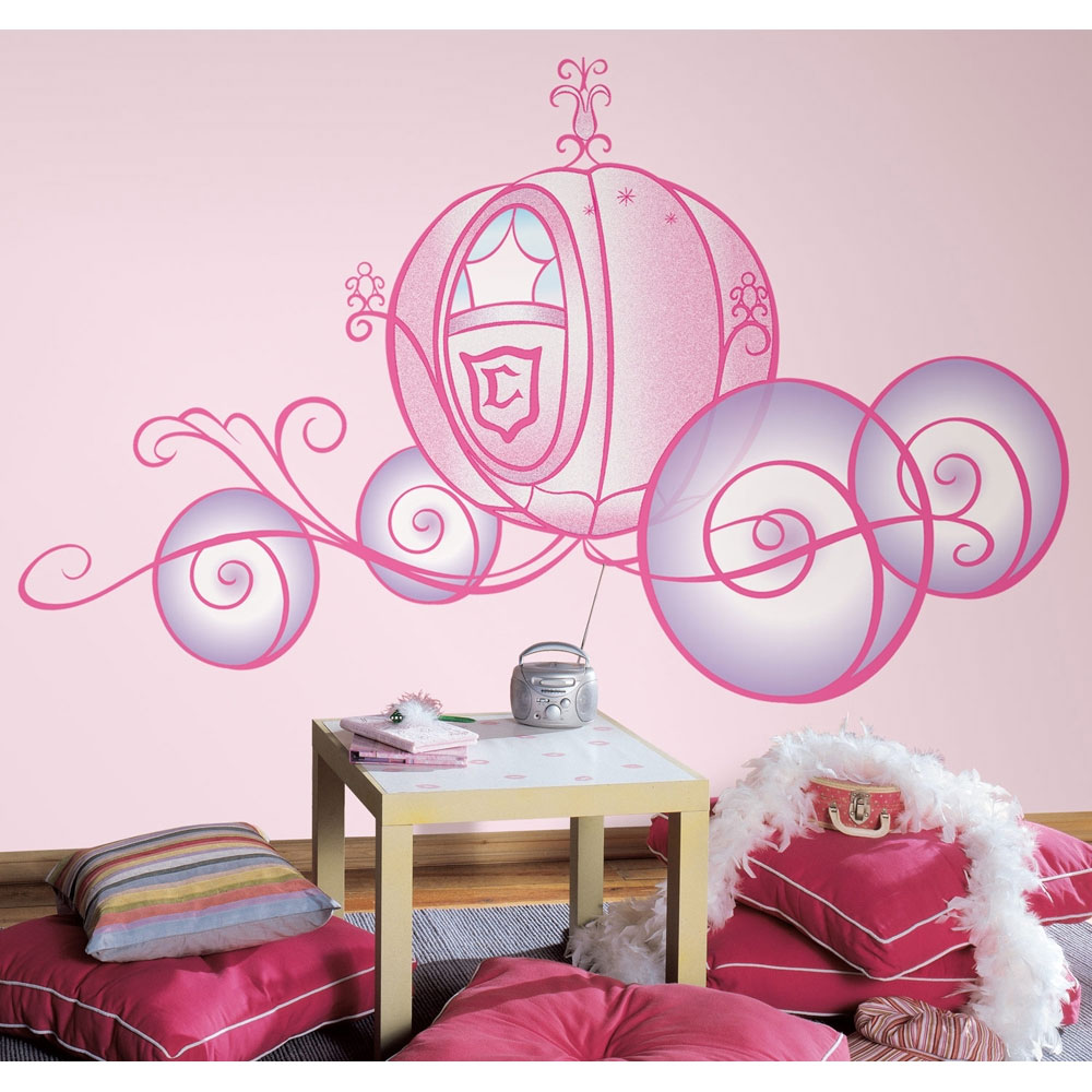 Princess Carriage Self Stick Wall Accent