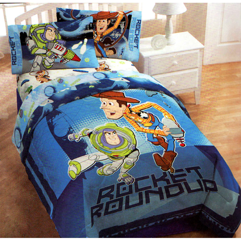 Disney Toy Story Comforter Rocket Roundup Twin Full Bedding