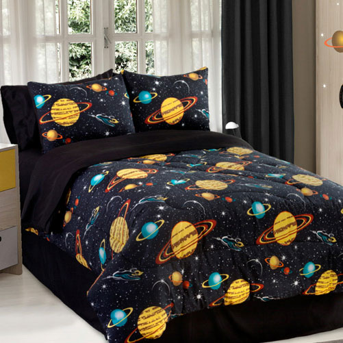Twin/Full/Queen Outer Space Comforter Sheet Set