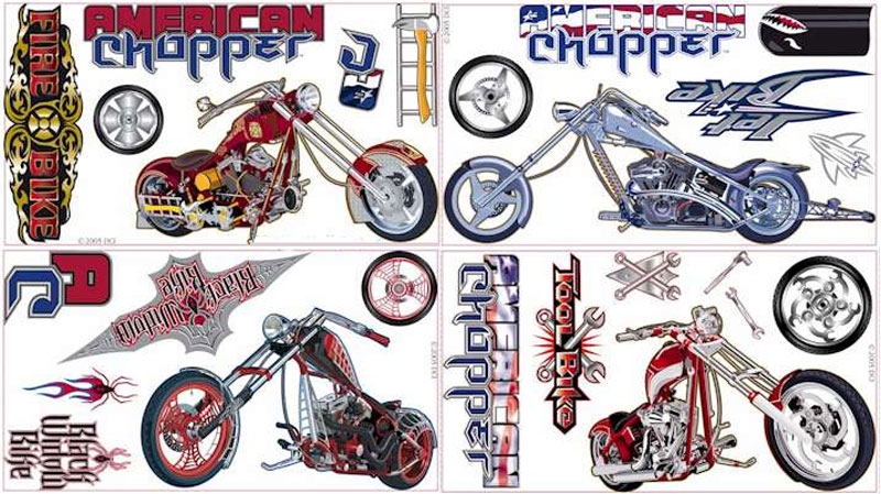 AMERICAN CHOPPER - Peel and Stick - 24 Wall Stickers - Accents WT1064SCS