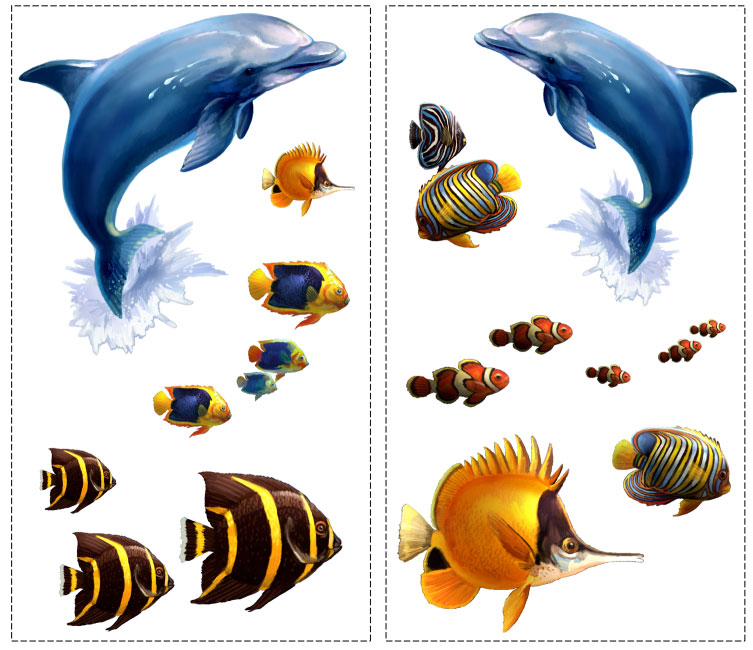 Under The Sea - 24 Wall Stickers Decals