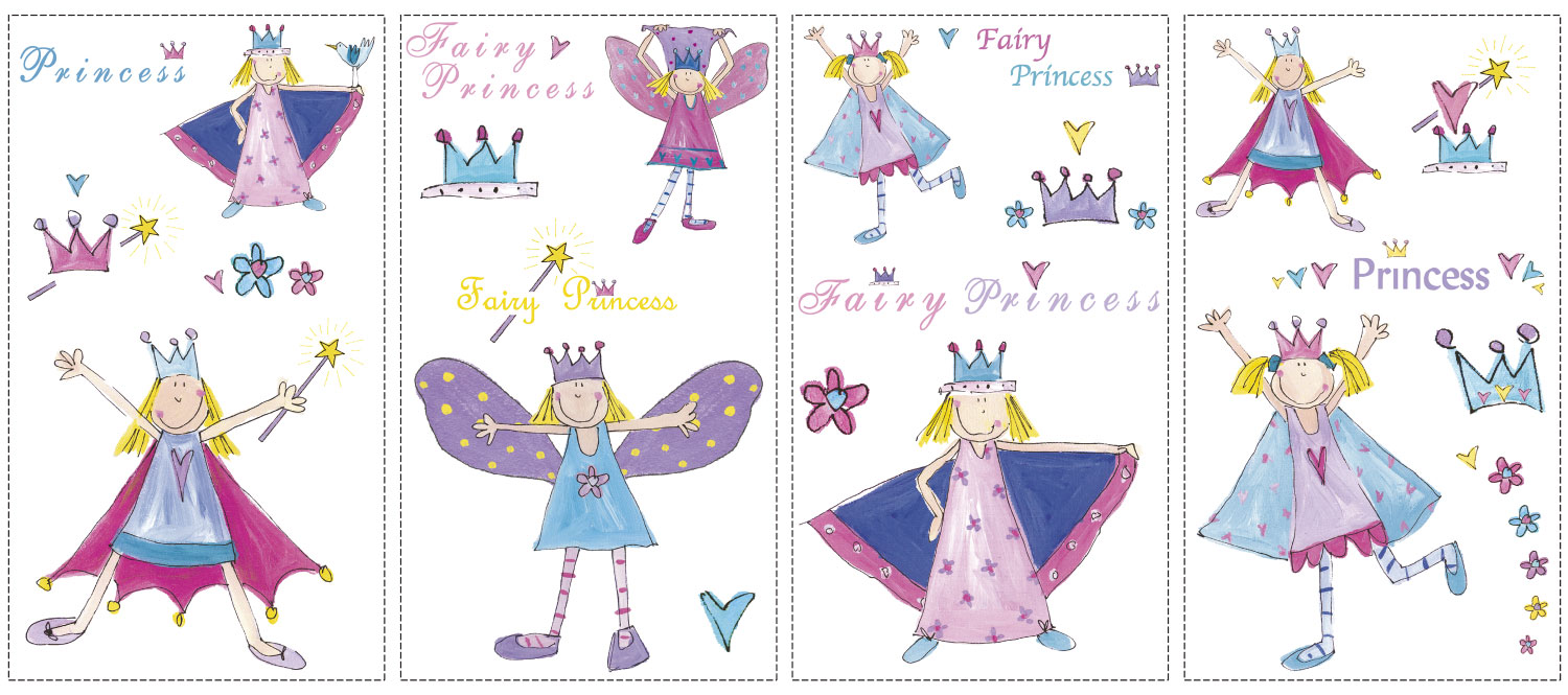 Fairy Princess Wall Decals