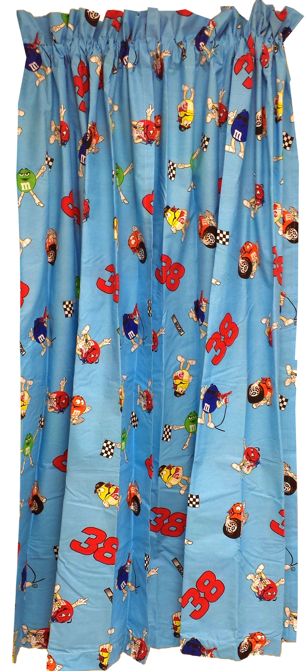 5pc Nascar Drapes-Curtains and Valance Set