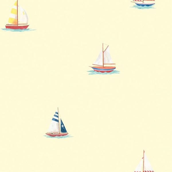Sailboats Prepasted Wallpaper