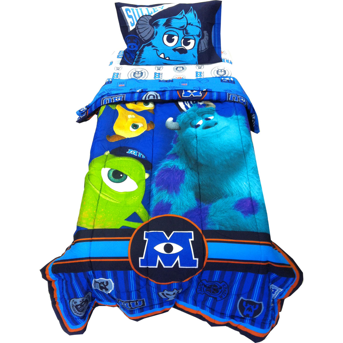 details about 4pc disney monsters inc twin bedding set scare u mike