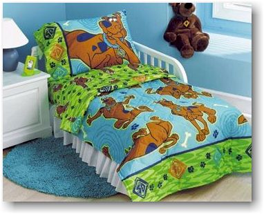 scooby doo day dream bedding set toddler size boys and girls