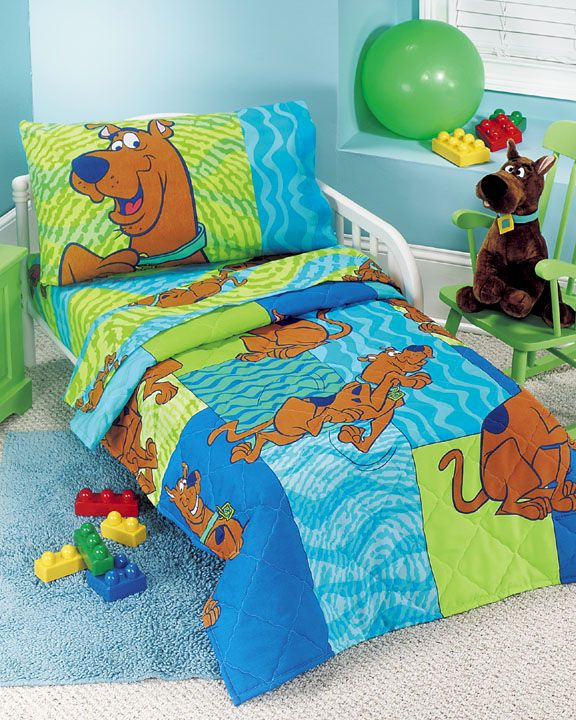 scooby doo thumbprints bedding set toddler size boys and girls