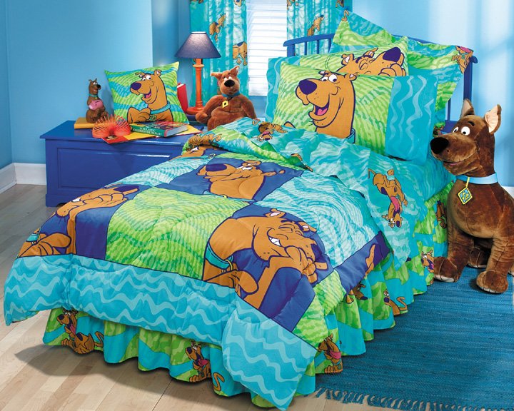 scooby doo thumbprints boys and girls comforter twin bedding