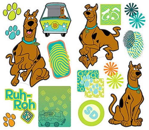 35 SCOOBY DOO Paw Prints Scoobydoo DECALS WALL STICKERS