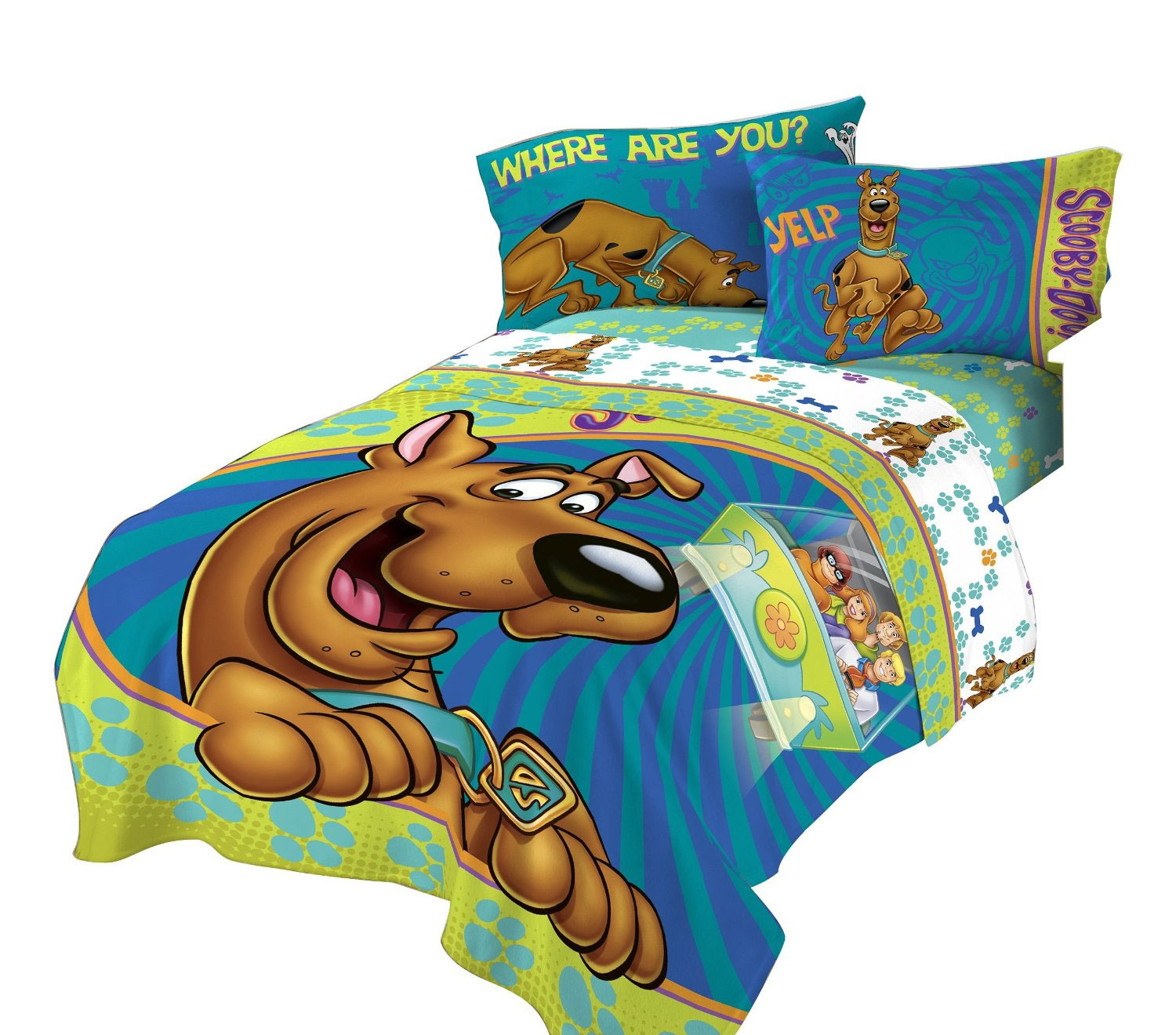 pics photos scooby doo kid s fun bed twin size bedding sheet set new