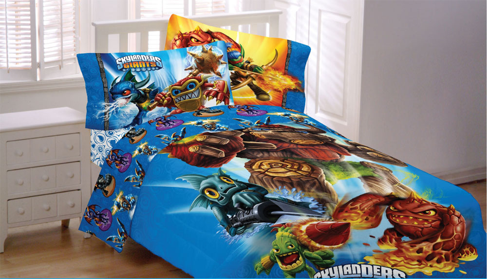 Skylanders Giants Spyro Twin Bed Sheet Set - 3pc Sky Friends Adventures Bedding Sheets Twin Size MA309C