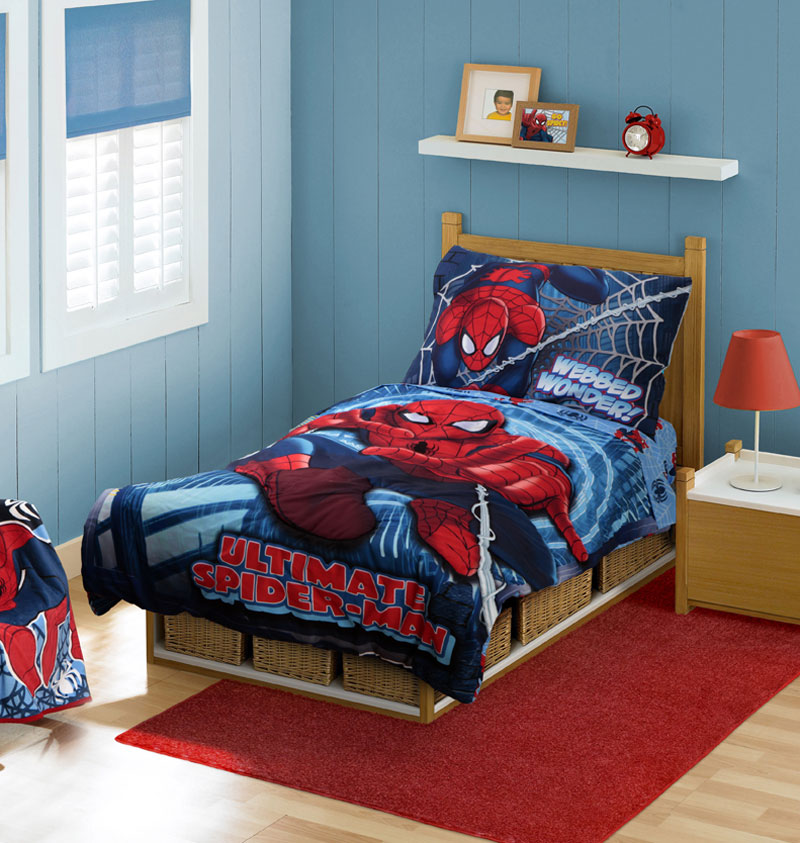4pc Marvel Ultimate Spiderman Toddler Bedding Set