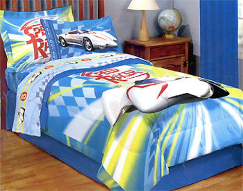Speed Racer 3pc Bedding Sheet Set - Twin Bed