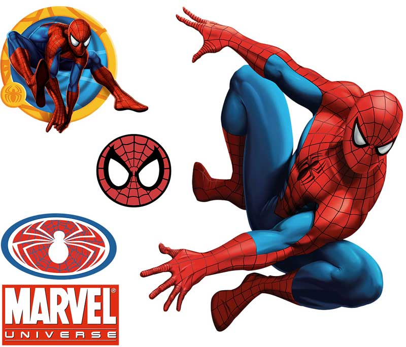 5pc Large Spiderman Wall Accent Decals