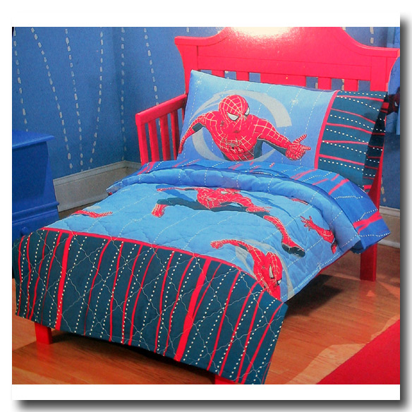 Spiderman spinning the web bed in a bag toddler bedding set