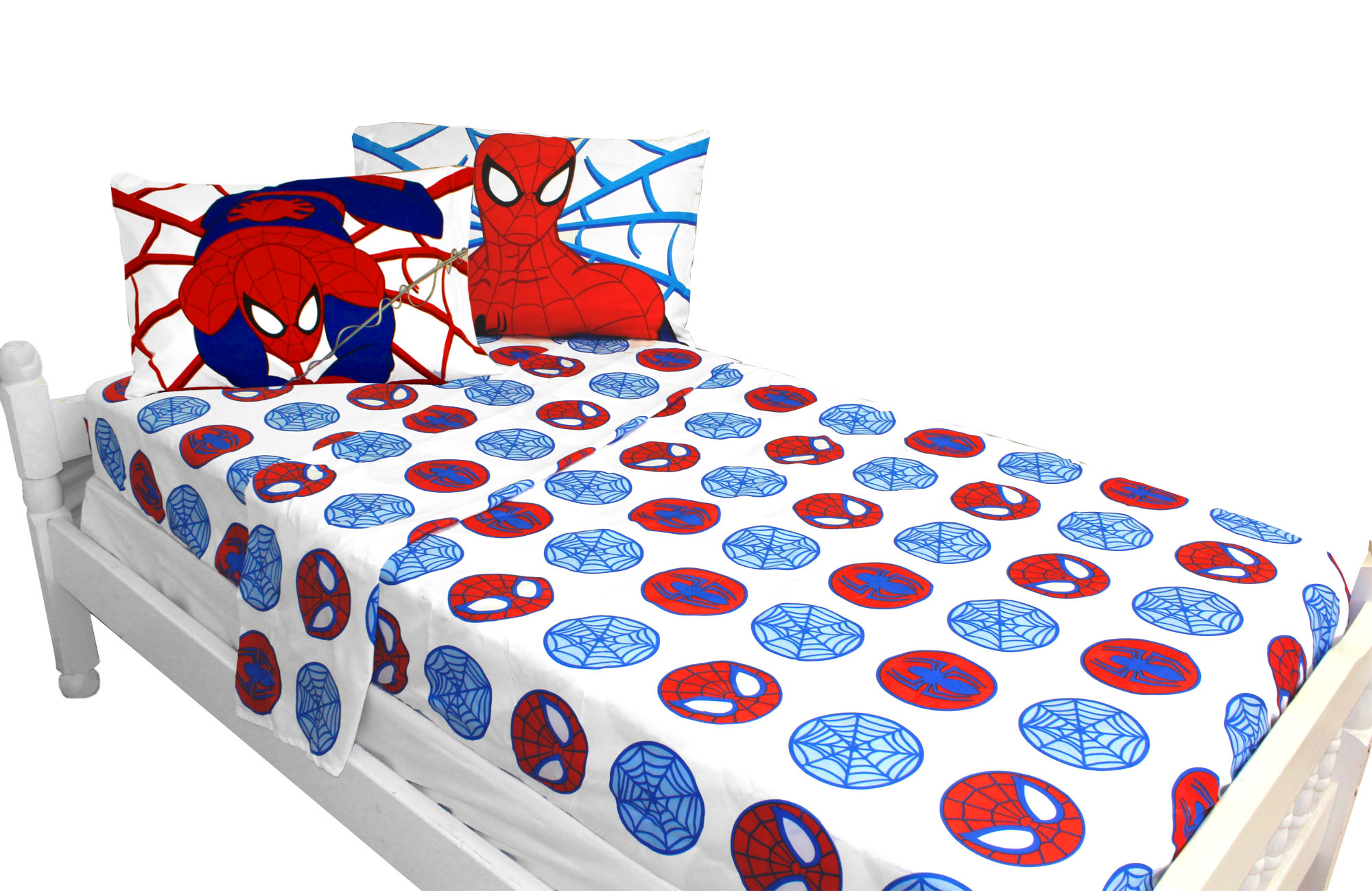 Marvel Comics Spiderman Bed Sheet Set Bold Spider-Man Bedding Accessories Full Jf26362cd JF26362CD
