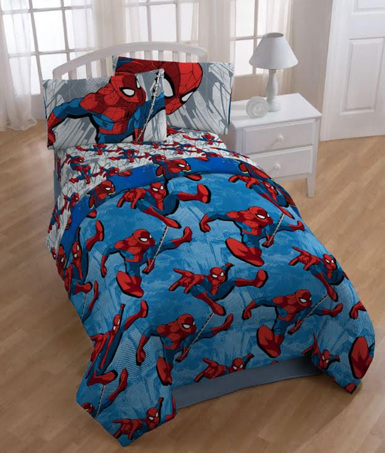 Spider-Man Twin Comforter - Marvel City Graphic Bedding JF23680CD