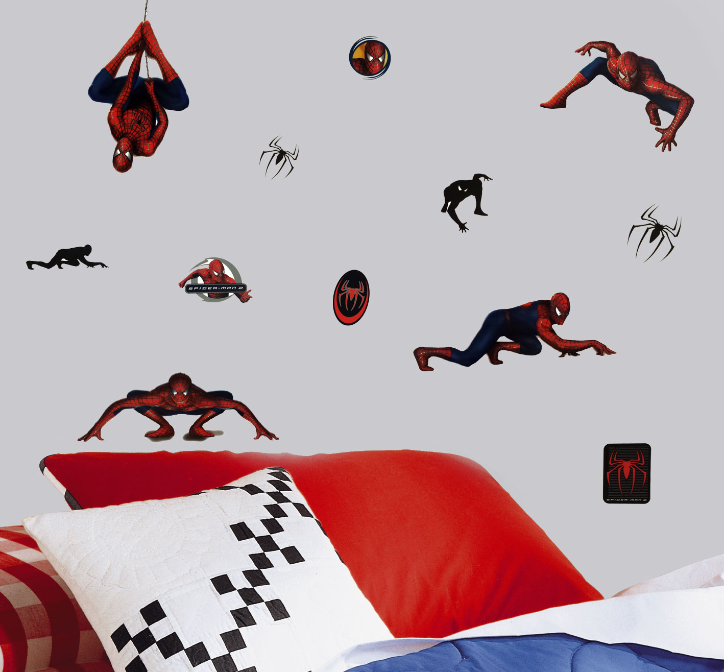 24pc Marvel Spiderman Wall Stickers Comic Book Superhero Movie Self-Stick Decals 264869949