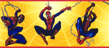 Webbing Spiderman Wall Border