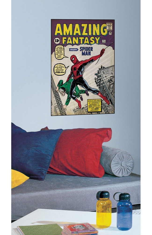 Amazing Spider-Man First Issue Marvel Comic Book Cover Self Stick Poster
