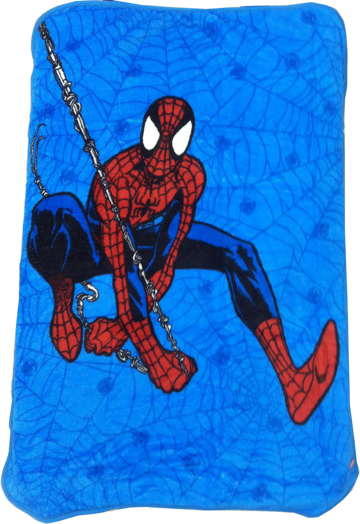 Marvel Comics Spider-Man Toddler Plush Blanket - Spiderman Webslinger Toddler Size Bed 23966