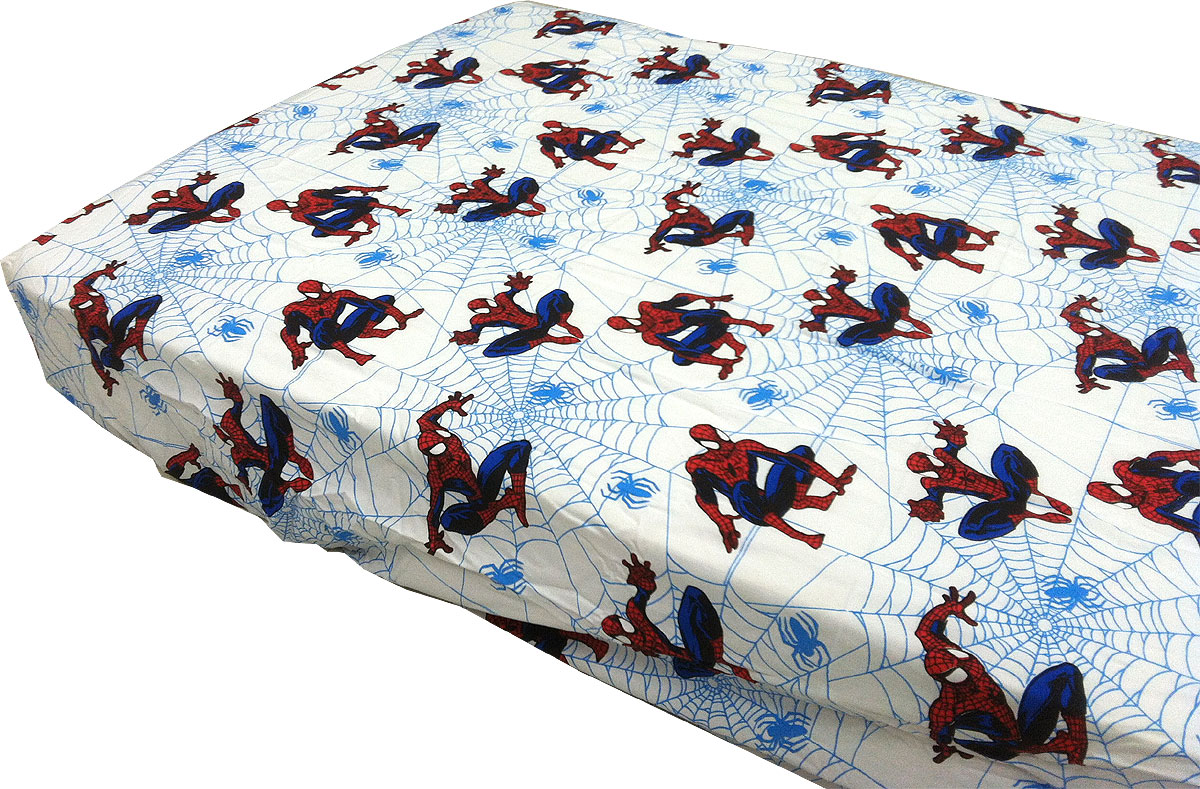 Marvel Amazing Spider-Man Fitted Sheet - Webslinger Superhero Bed Sheet Toddler Size 23967