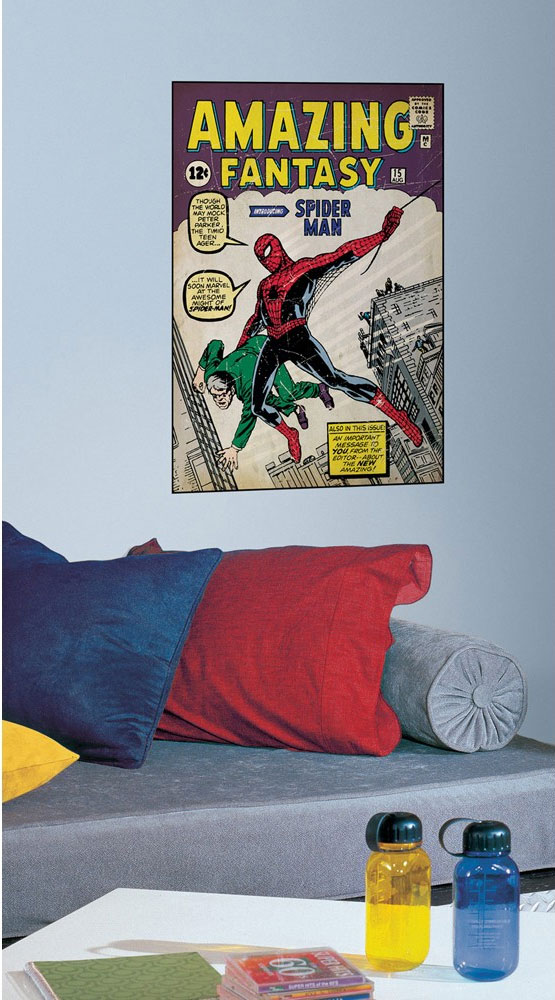 Amazing Spiderman First Issue Comic Book Cover Accent - Marvel Comics Superhero Peel-n-Stick Decal RMK1801GM