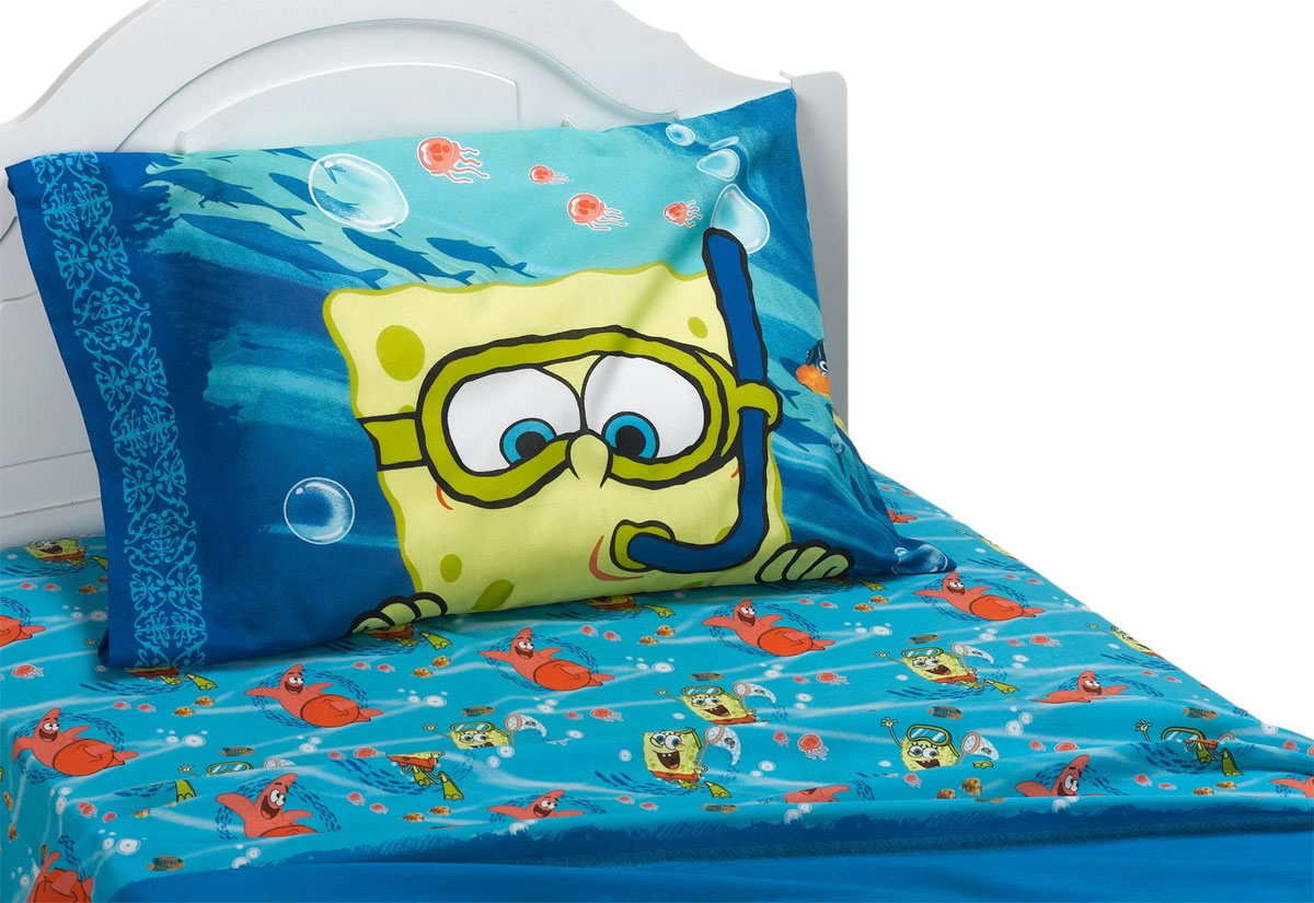 4pc Spongebob Patrick Full Bed Sheet Set